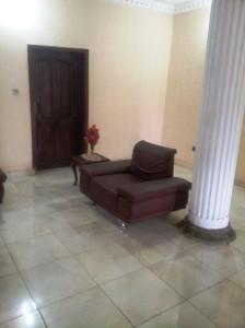 Chair by pillar in main house