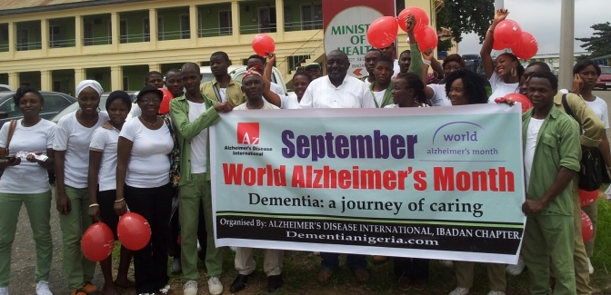September 2015: World Alzheimer's Month activities in Ibadan, Oyo State, Nigeria