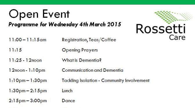 March 2015 open event